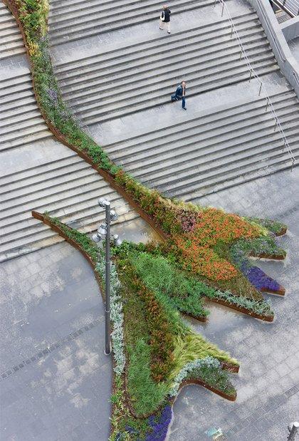 Сад на лестнице. Фото (с) Iwan Baan