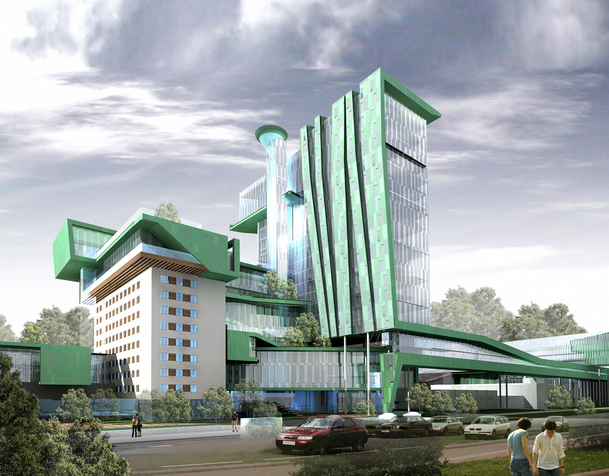 Реконструкция территории завода Элара в г. Чебоксары.