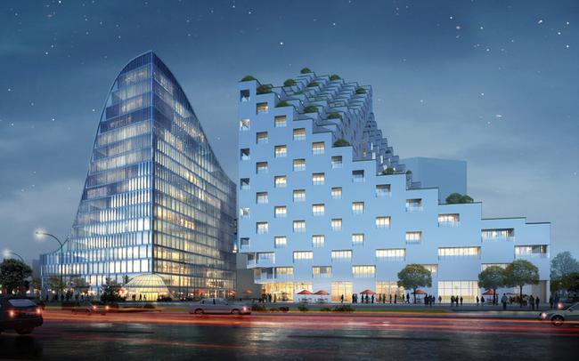 Комплекс Hangzhou Waves (с) JDS Architects