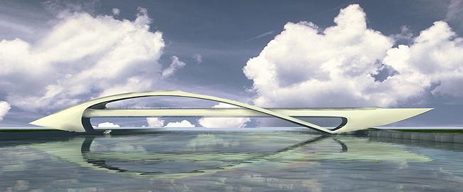 Торгово пешеходный мост через москва