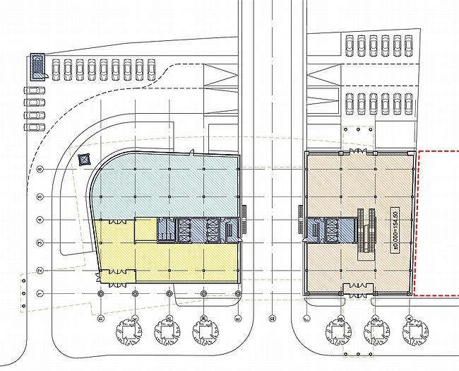 Схема благоустройства территории и план 1-го этажа.