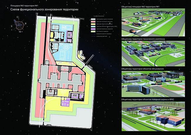 Космодром Восточный.  Схема планировочной организации участка.