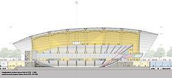 Малая арена. Продольный разрез