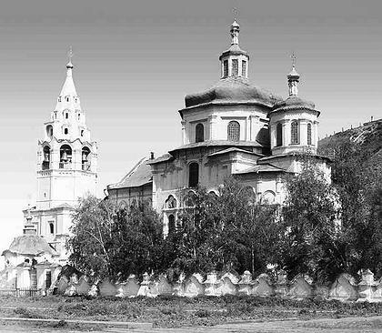 Богоявленская церковь в Тобольске. Фото С.М. Прокудина-Горского, начало XX века.