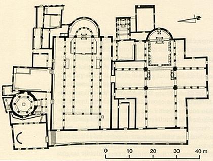 Салона. Комплекс раннехристианских церквей, план