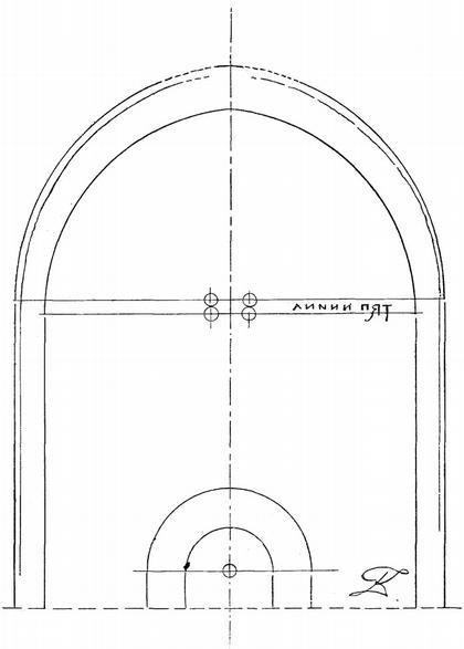 Рис. 3. Средняя закомара западной стены ц. Покрова на Нерли.