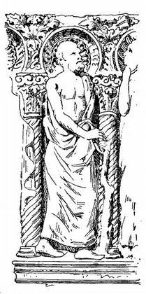 Рис. 4. Саркофаг III—IV вв. из виллы Маттеи в Риме (по Ривоира).