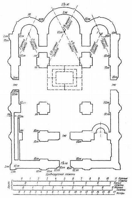 Рис. 23. План-реконструкция Успенской Елецкой церкви