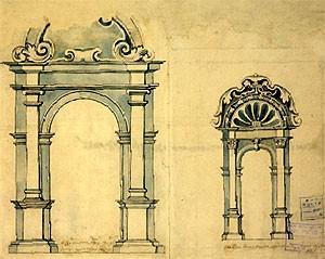 Архитектурная графика раннего русского барокко