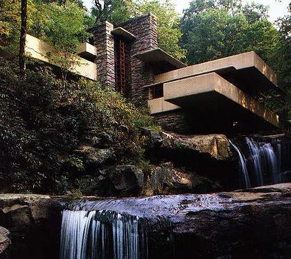 Особняк Е. Кауфмана (Дом-над-водопадом). Штат Пенсильвания. Архитектор Ф. Л. Райт