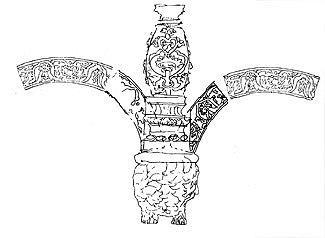 Илл. 8. Примерно так мог выглядеть узел повески льва-гирьки.